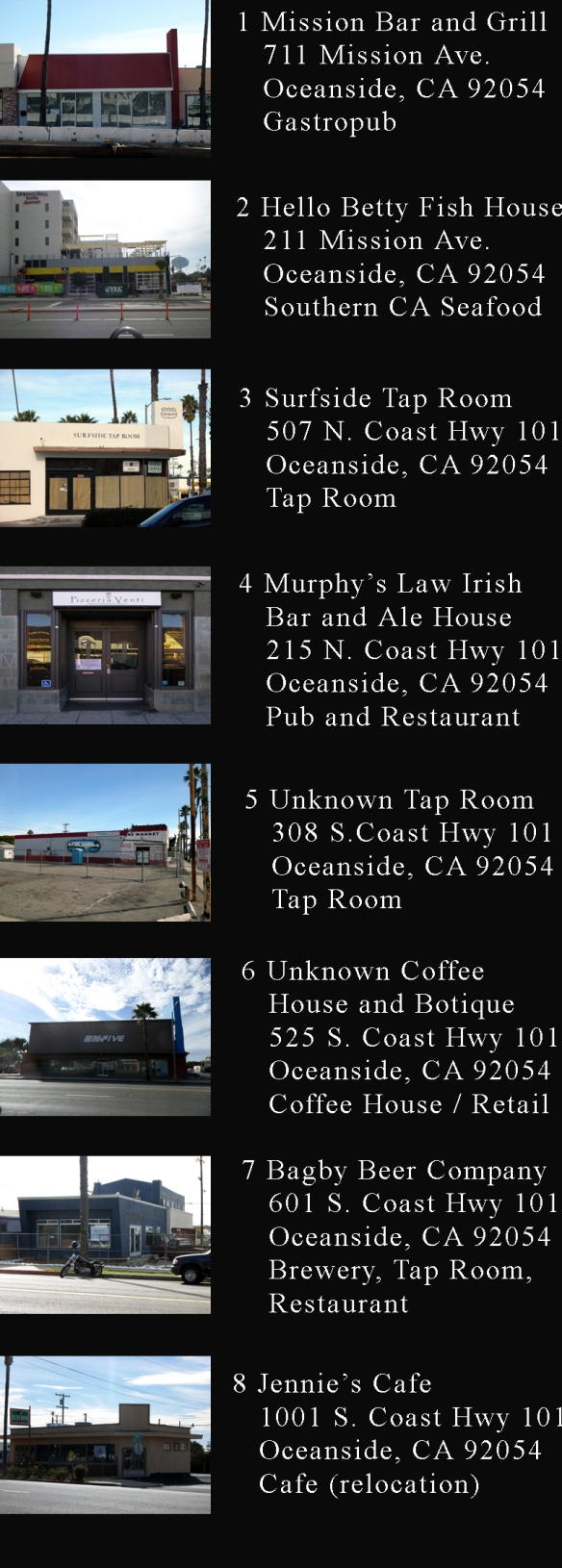 2014 Oceanside Restaurant Openings