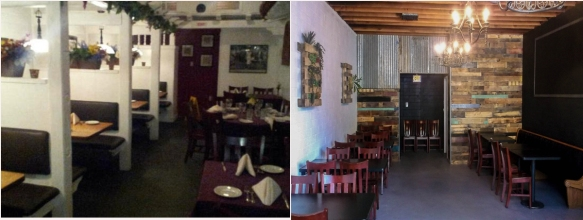 before after dinning room