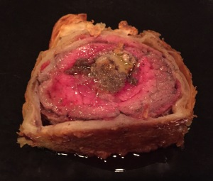 Beef Wellington Sliced and Served