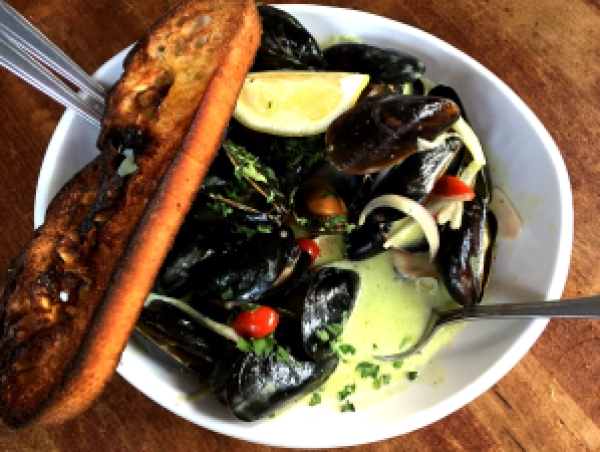 Pesto Mussels