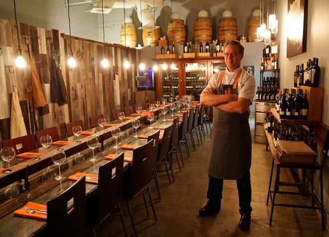 Chef wine room