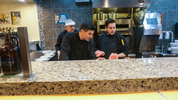 perfect pairings Kitchen staff focused