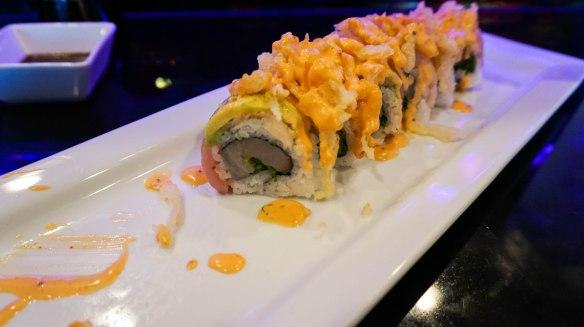 Reel Sushi roll inside