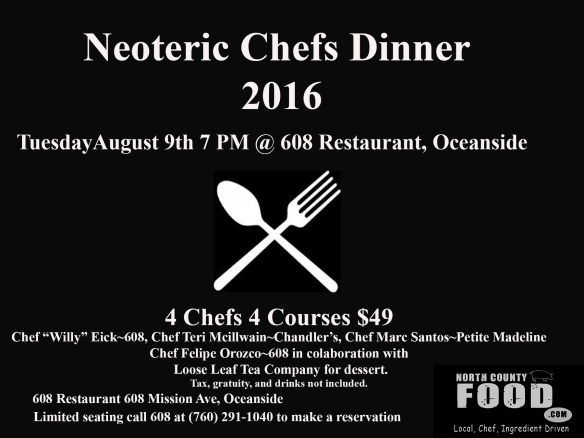 Chefs dinner mock
