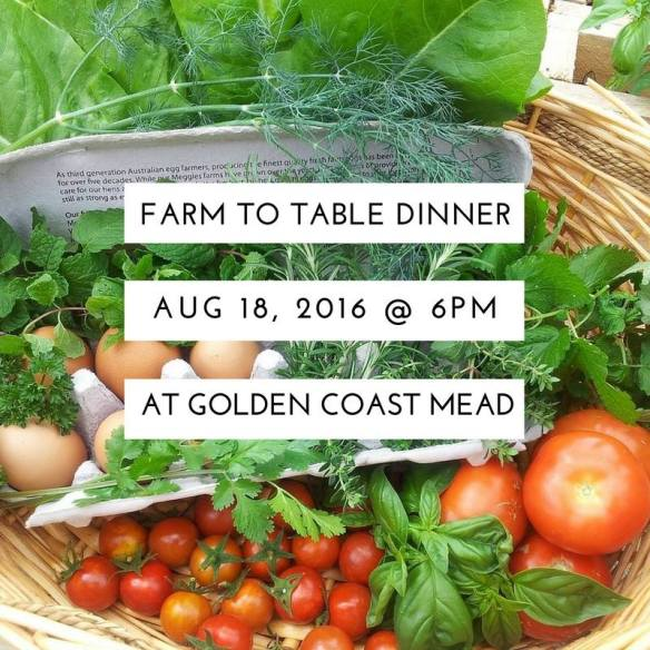 gold coast mead farm to table dinner