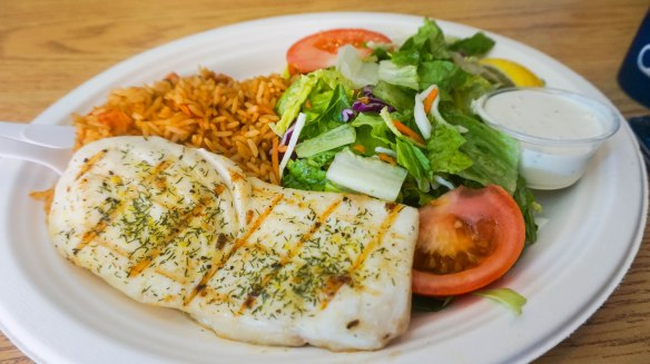 Pelly-s Halibut plate